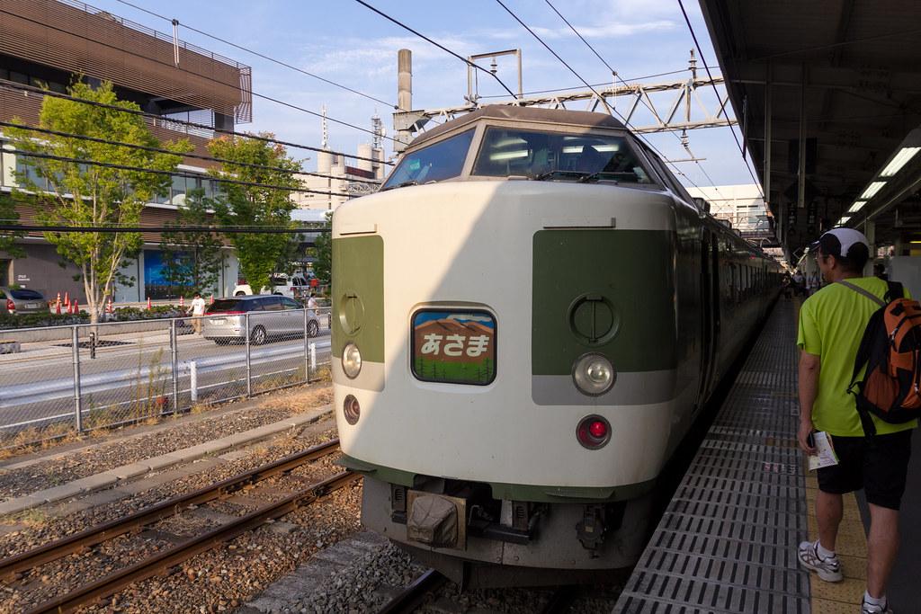 """Limited Express """"Kaiji <189 Series Asama Color>"""" (Kofu, Yamanashi, Japan)"""