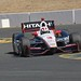 Helio Castroneves navigates the Turn 9 chicane during practice at Sonoma Raceway
