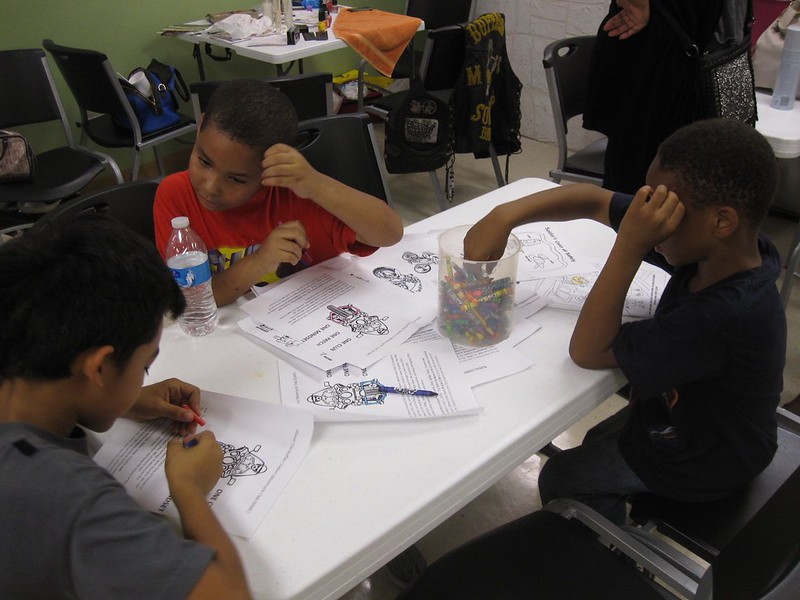 Plenty of fun indoor activities provided a safe and cool respite from the heat for the younger children.