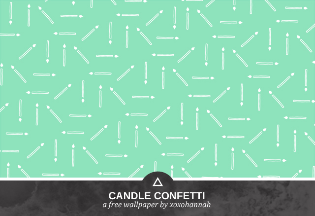 Candle Confetti Desktop Background Preview in Mint