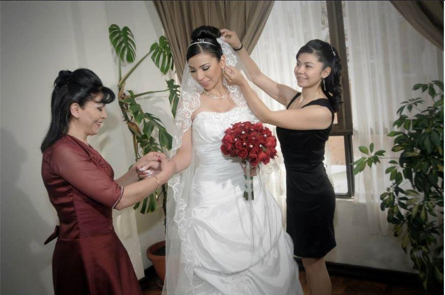 La novia se alista
