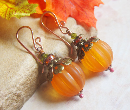 Sihaya Designs Pumpkin Earrings 2013