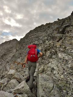 Nearing a Crux on SW Ridge of Ellingwood Point
