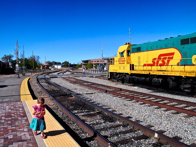 Soleil Walks the Santa Fe Railyard_Snapseed