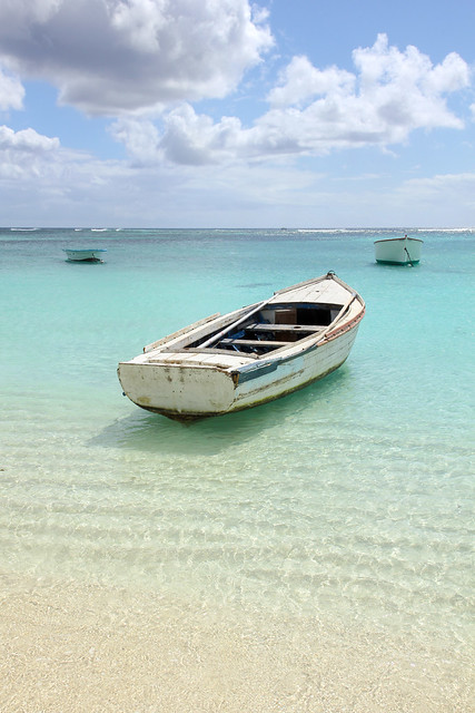 Mauritius - boat on the water