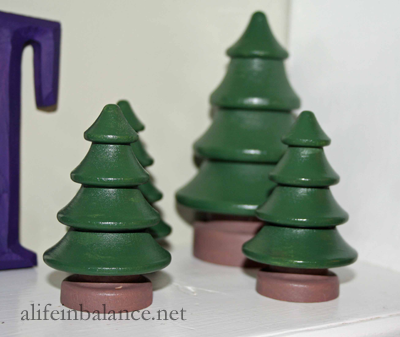 Painted Wooden Trees