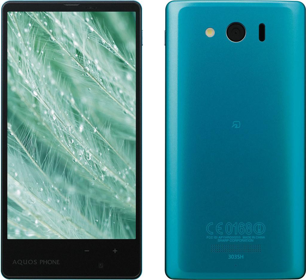 AQUOS PHONE Xx mini 303SH 実物大の製品画像