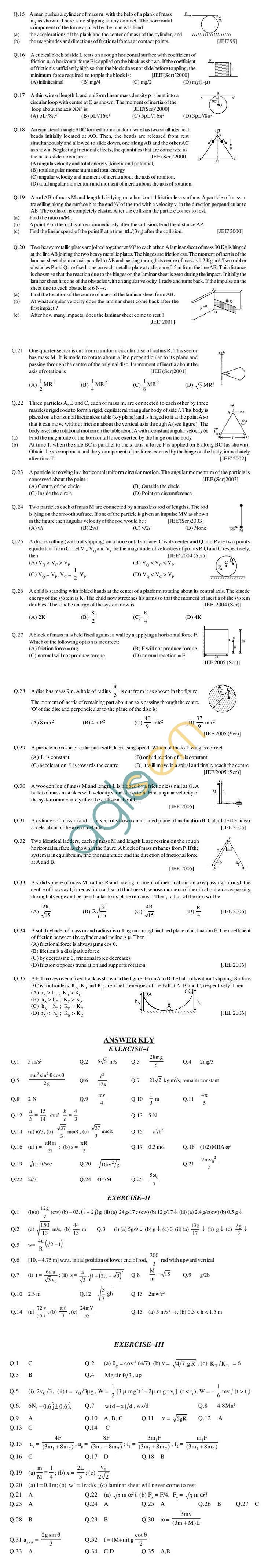 Physics Study Material - Rotational Dynamics