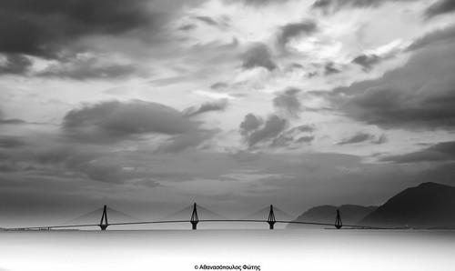 longexposure bridge sunset blackandwhite rio nikon greece cpl hoya lightroom patra ndx8 d3200 ndx400