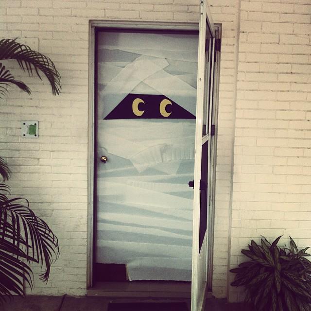 Getting spooky #halloween #doordecor #pinterestwin #mummy