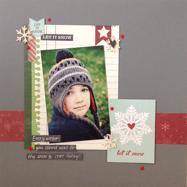 let it snow layout Scrapbook Adhesives by 3L Simple Stories by Kimberly Crawford
