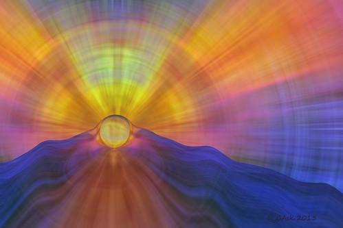 light sun abstract art sol norway digital photoshop sunrise river flow norge nokia photo rainbow waves foto kunst halo manipulation rays colourful lys soloppgang strøm bølger mirroring kule manipulert speiling flyt stråler awardtree lovelynewflickr
