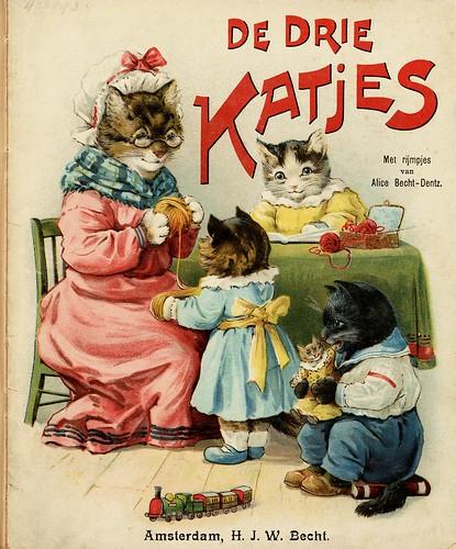 011- De drie katjes -1905-© Royal Library - Biblioteca Nacional de los Países Bajos