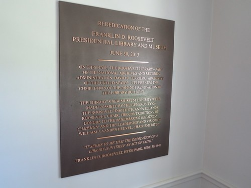 fdr presidential library plaque