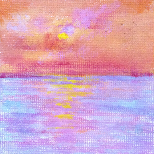 Golden Sunrise (Mini-Oil Bar Painting) by randubnick