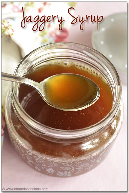 How to make jaggery syrup