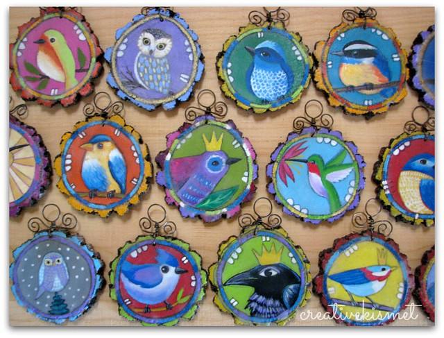 Bird Ornaments by Regina Lord