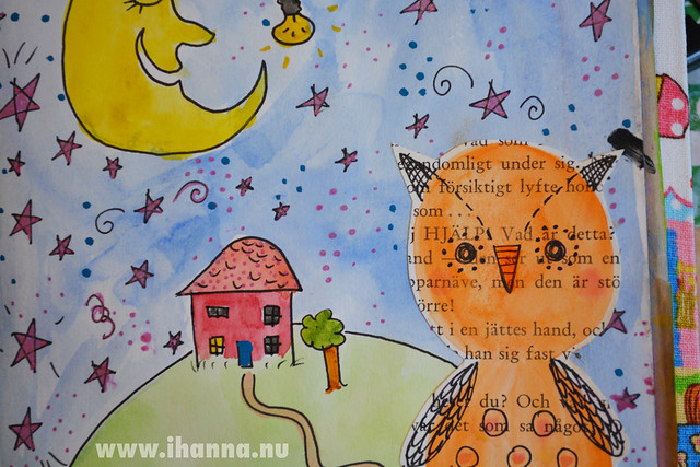 iHanna's orange owl – inspired by Craft-a-Doodle