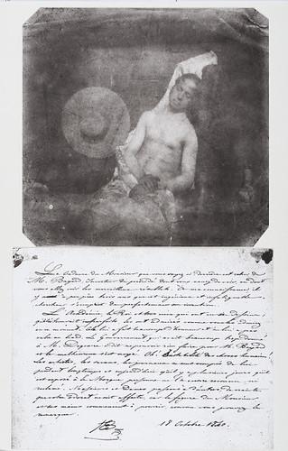 Hippolyte Bayard, Le noyé, 1840. Photomontage d'après des tirages de Claudine Sudre,  1973. Collection Société française de photographie
