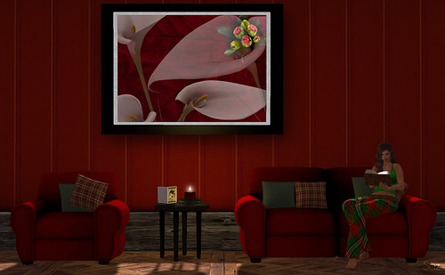 Special Jewell's Fine Art #148 Holiday Peace Lily  #015 - Dench Designs Sofa, chair, and side table