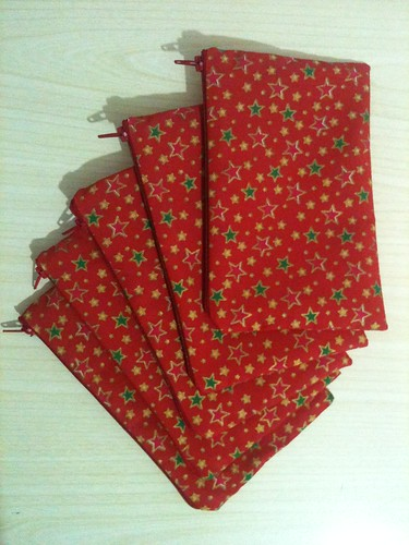 Zipped pouches - finished!