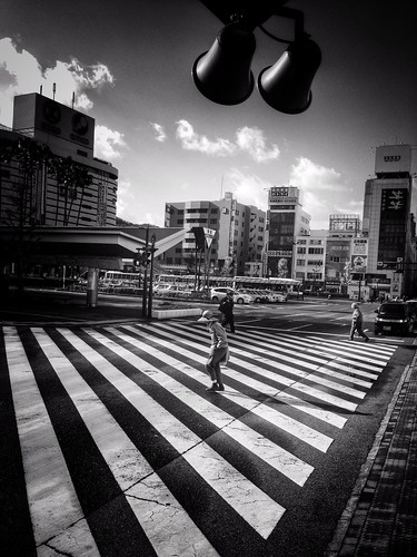 At the big intersection by Tokushima Station. by daveweekes68