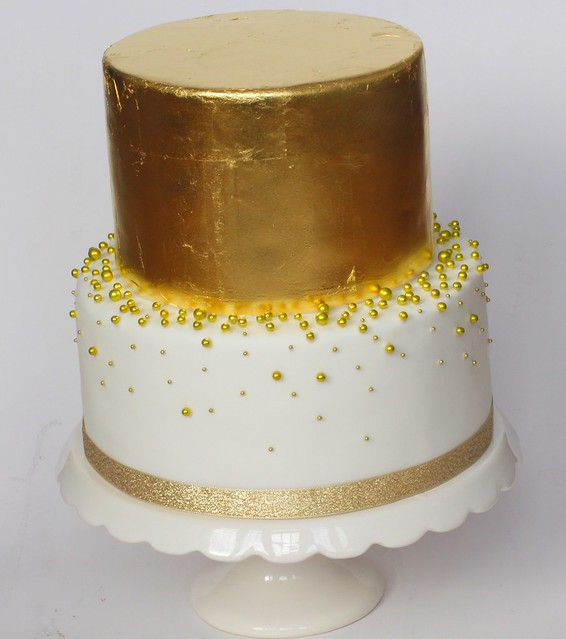 Gold Leaves Cake Decoration : gold leaf cake Flickr - Photo Sharing!