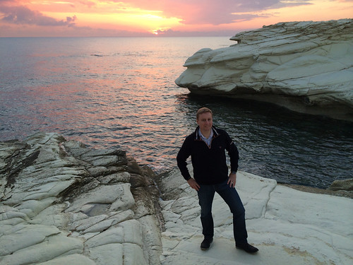 Last sunset of 2013 over the Mediterranean on Cyprus