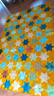 Diamond Star Quilt Top