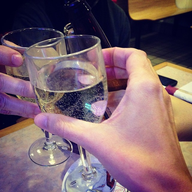 Cheers! Work trips are fun sometimes.