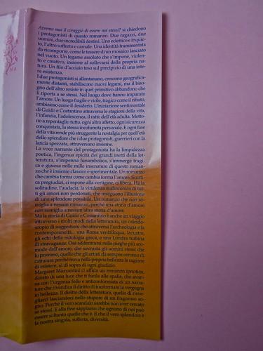 Margaret Mazzantini, Splendore. Mondadori 2013. Art Director: Giacomo Callo; Progetto Grafico: Marcello Dolcini; Graphic Designer: Susanna Tosatti; alla sovracop: ©R. McGinley. Risvolto della prima di sovracop. (part.), 1