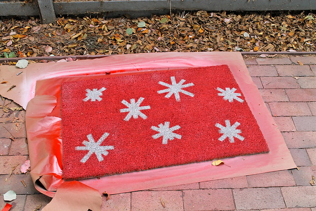 step four: completed door mat
