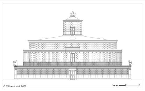 Restituzione del prospetto principale del Mausoleo di Adriano, di P. Vitti, Roma 2013
