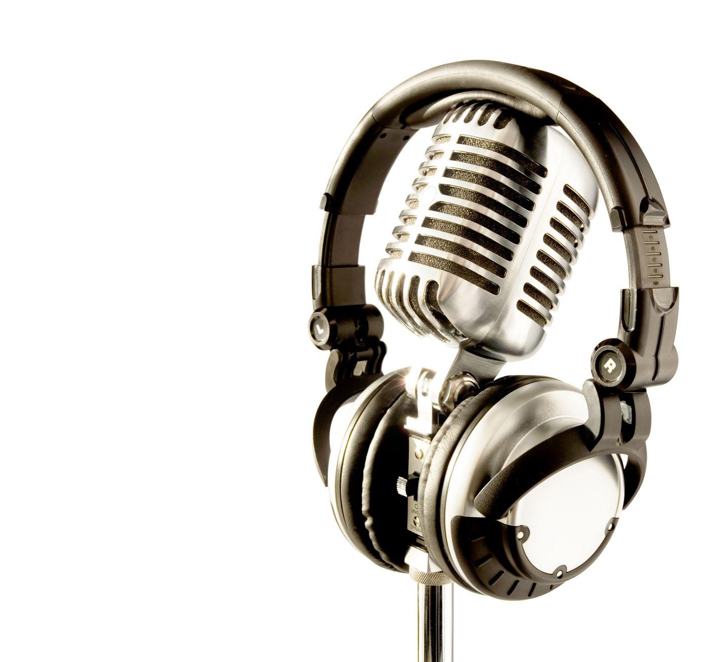 professional retro microphone dj headphones flickr photo sharing. Black Bedroom Furniture Sets. Home Design Ideas
