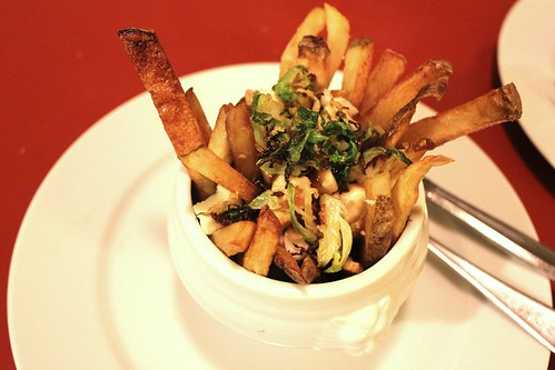 poutine with fried brussel sprouts