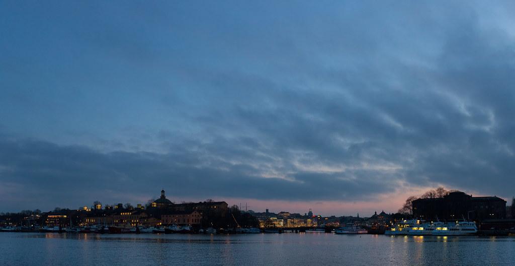 Stockholm at dusk. February 4, 2014.
