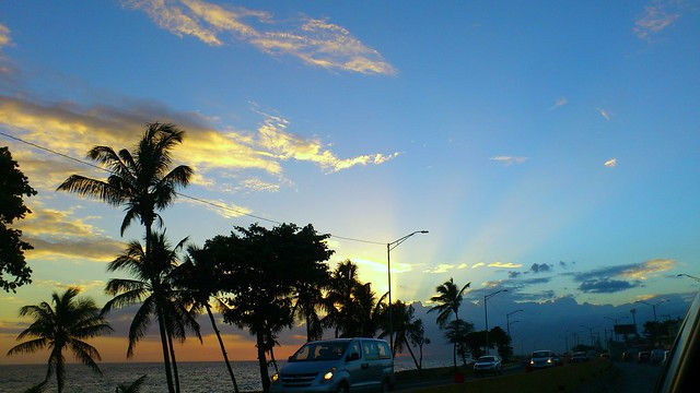 BEAUTIFUL SUNSET IN SANTO DOMINGO, DOMINICAN REPUBLIC