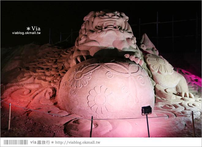 【2014台灣燈會在南投】南投沙雕燈會~夜間點燈好浪漫!還有精彩光雕秀18