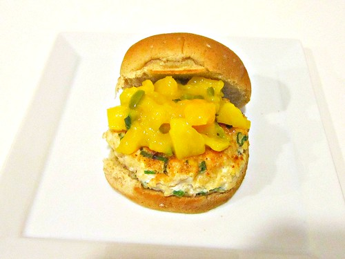 Blackened Chicken Sliders with Warm Mango Salsa 001
