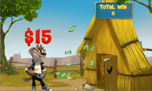 free Piggies and the Wolf bonus game