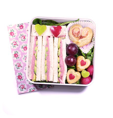 Saint Valentine day sandwich