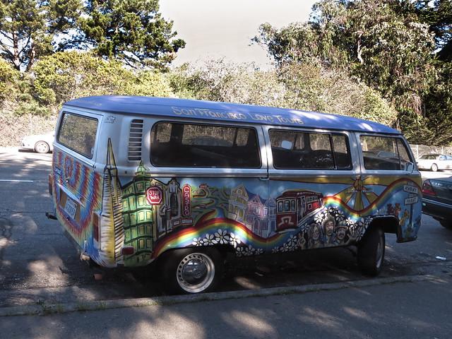 San Francisco Love Tours van; Kezar Drive; The Haight, San Francisco (2014)