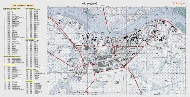 Bản đồ TP HẢI PHÒNG 1968 (Khu vực trung tâm)