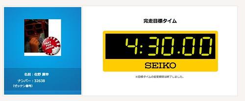 2014東京マラソン目標タイム