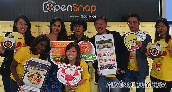 The OpenSnap team with the emcees
