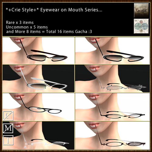 *+Crie Style+* Eyewear on Mouth - Gacha Series02
