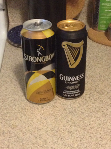 Cider and Guinness ;-)