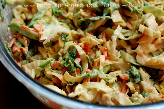 Real Food Summer Picnic Series :: Classic Coleslaw :: Grain Free, Egg Free, Nut Free, Dairy Free Option