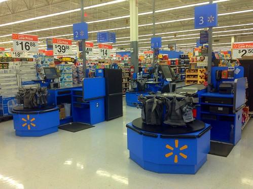 Walmart Store Cash Registers.