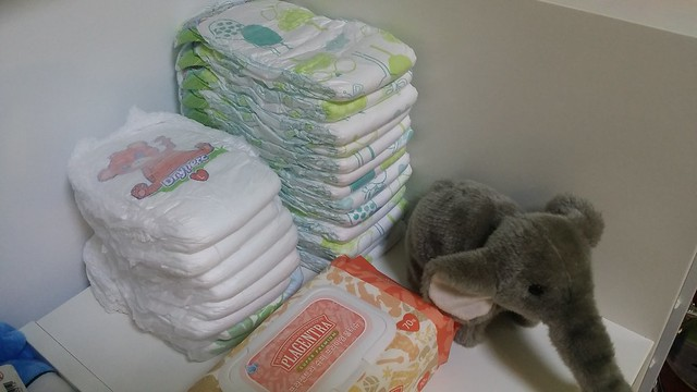 Diaper corner in the playroom